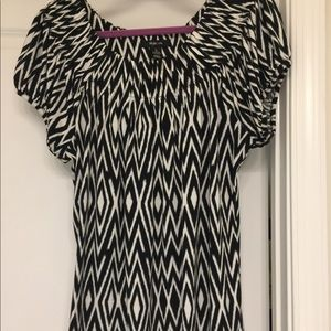 Style and Co. Black and white top Size L.